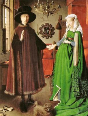 jan van eyck ritratto di van eyck con la moglie ex coniugi arnolfini 1434 national gallery londra 305x400 PROUST A COLORI   un viaggio nellatlante pittorico del grande scrittore del Tempo
