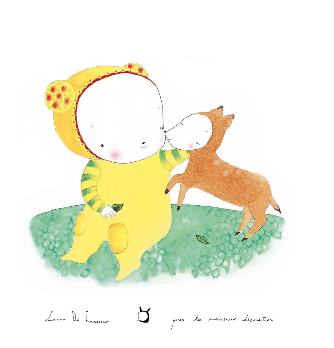 Ami faon poster A3 LAURA DI FRANCESCO   Intervista attraverso le sue magiche illustrazioni
