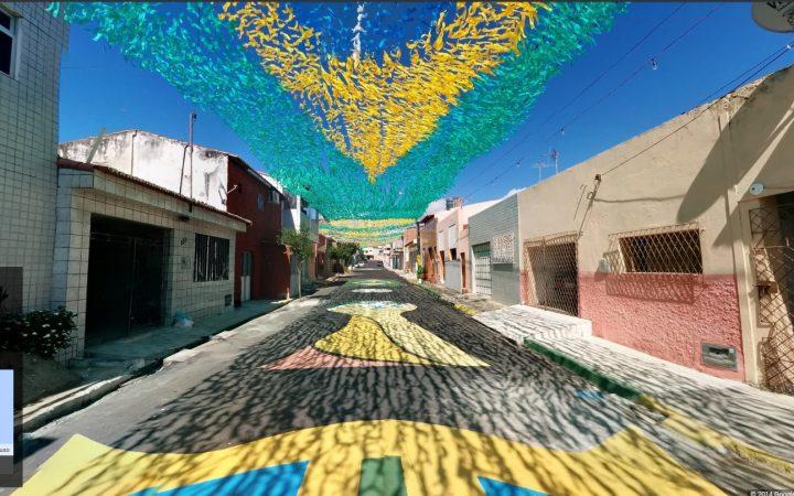 MONDIALI BRASILE 2014 - Google Maps e le strade dipinte 3