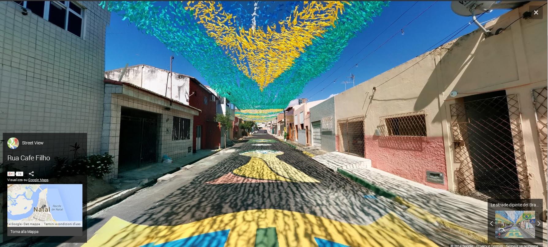 BRASILE1 MONDIALI BRASILE 2014   Google Maps e le strade dipinte