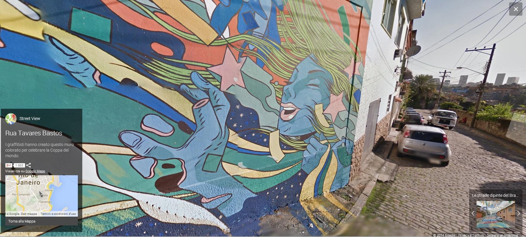 BRASILE2 MONDIALI BRASILE 2014   Google Maps e le strade dipinte