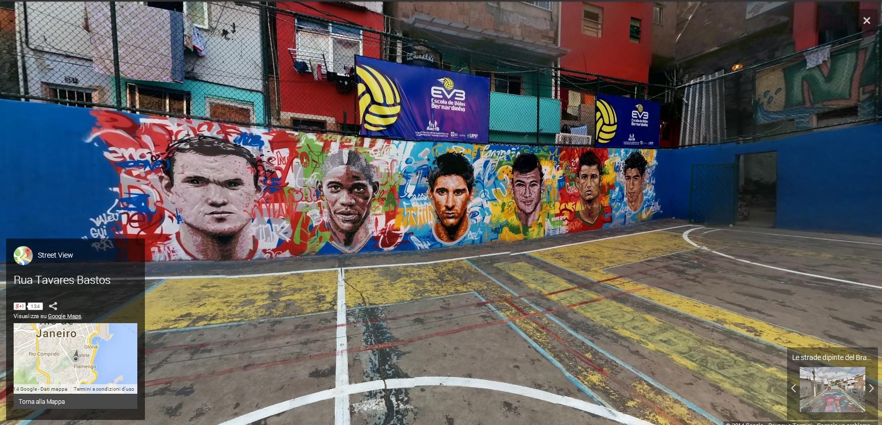 BRASILE5 MONDIALI BRASILE 2014   Google Maps e le strade dipinte