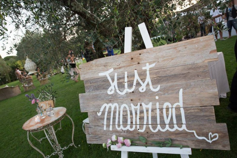 Allestimento matrimonio just married e1406126463342 ALLESTIMENTI ECO DESIGN