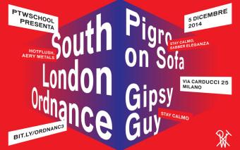 SOUTH LONDON ORDNANCE, PIGRO ON SOFA & GIPSY GUY