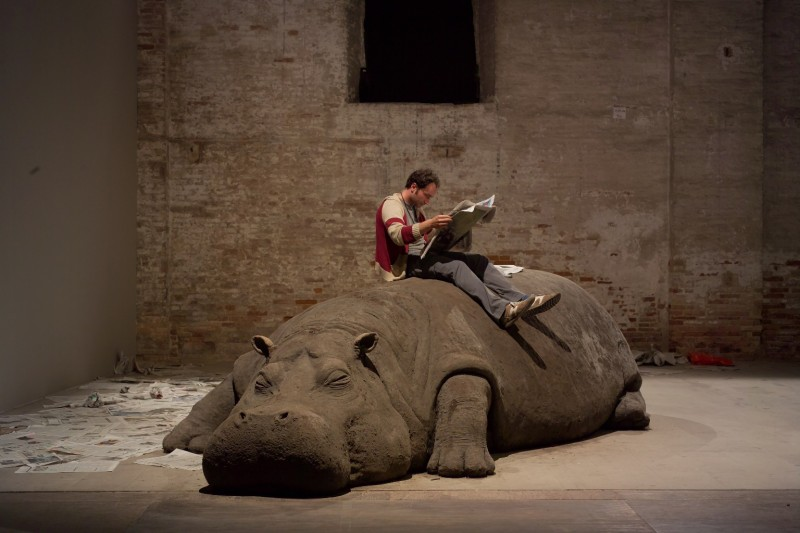 Allora and Calzadilla Hope Hippo 2005.Courtesy the artist and Lisson Gallery e1430745096568 BIENNALE VENEZIA 2015