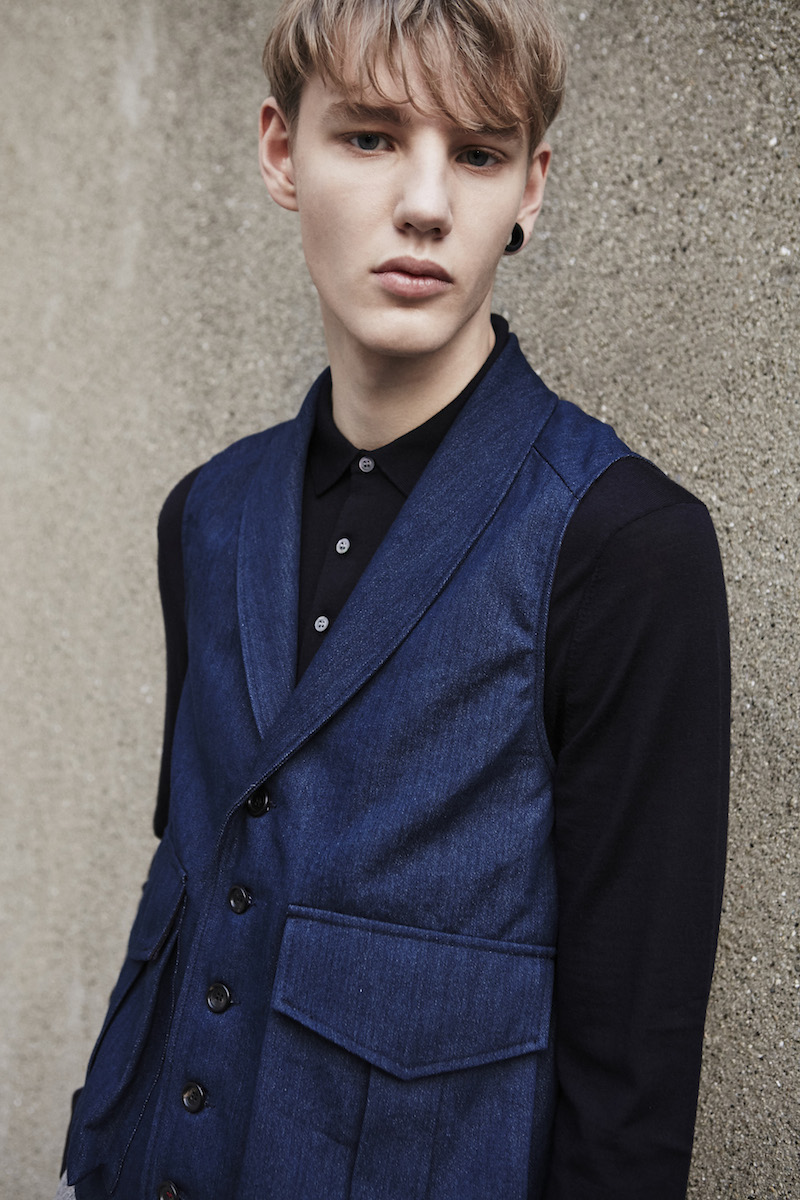 The shawl collar waistcoat denim portrait THE GREAT SARTORIAL UPRISING