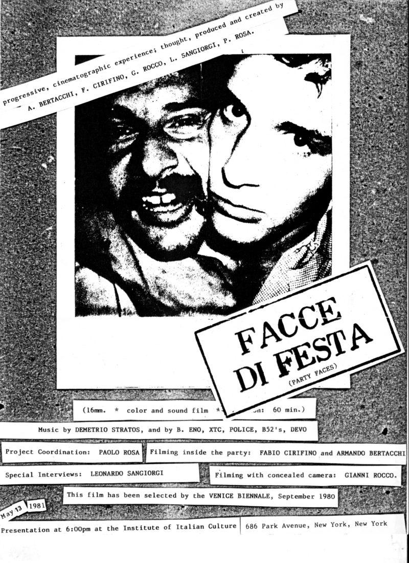 SA 1980 FacceDiFesta poster e1488812258142 FACCE DI FESTA STUDIO AZZURRO