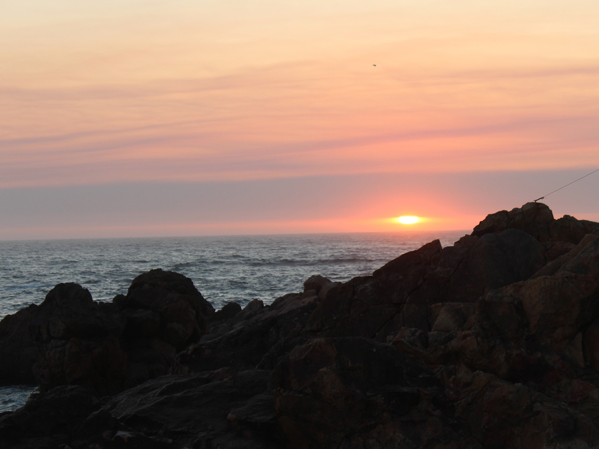 sunset praia da luz foz PORTO