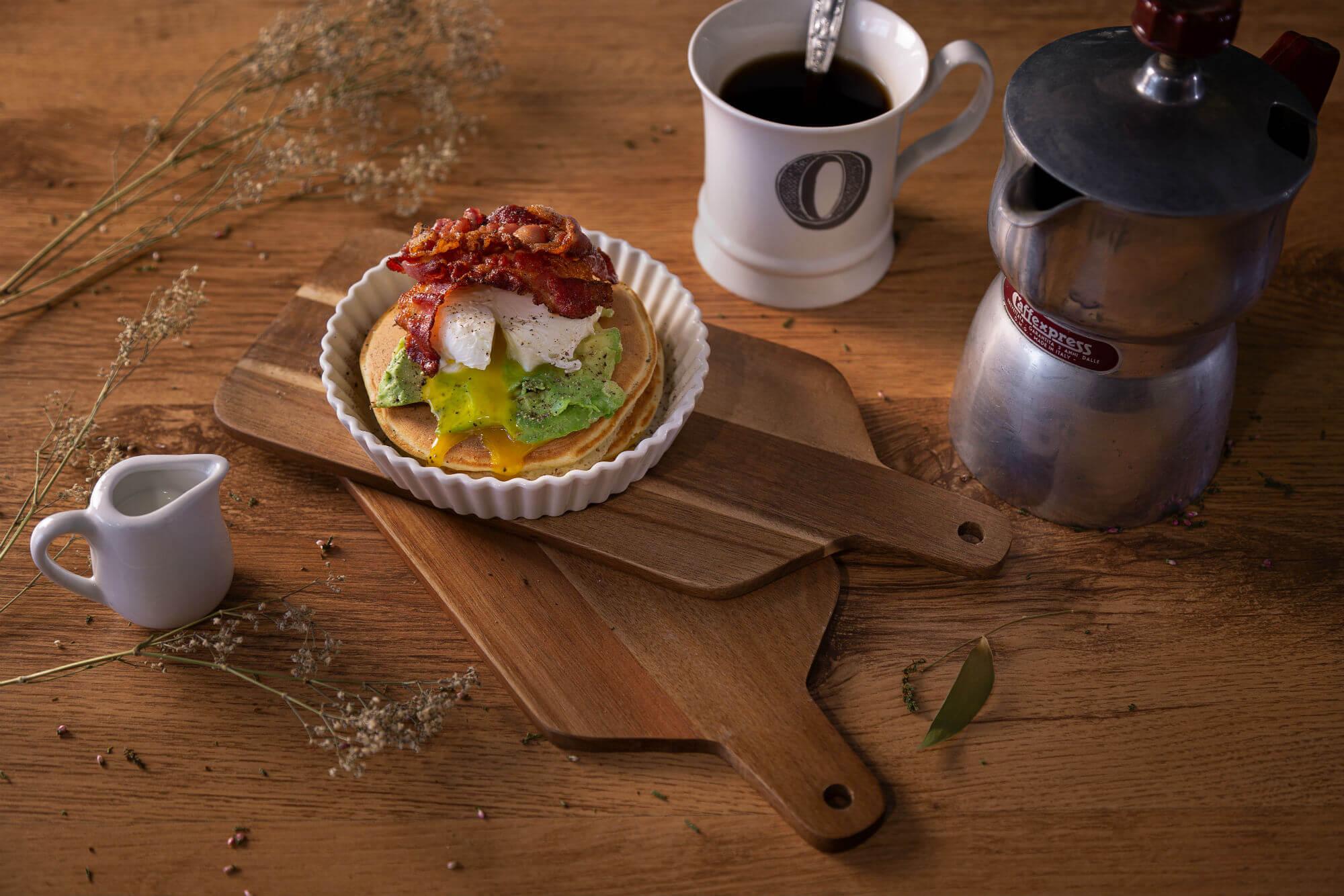 Pancake BaconAvocadoUovo OFELE HOME BAKERY