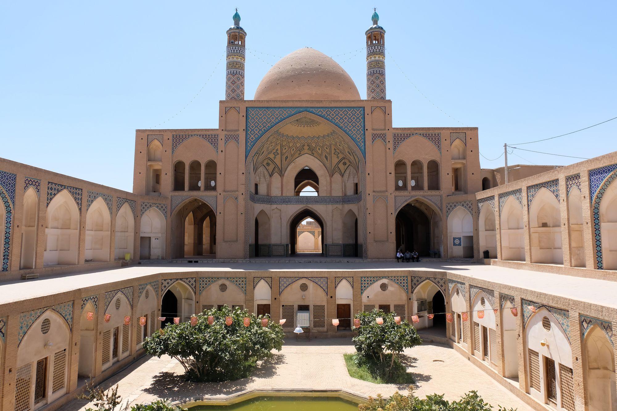 Kashan Moschea Agha Bozorg 1 compressor IRAN ON THE ROAD