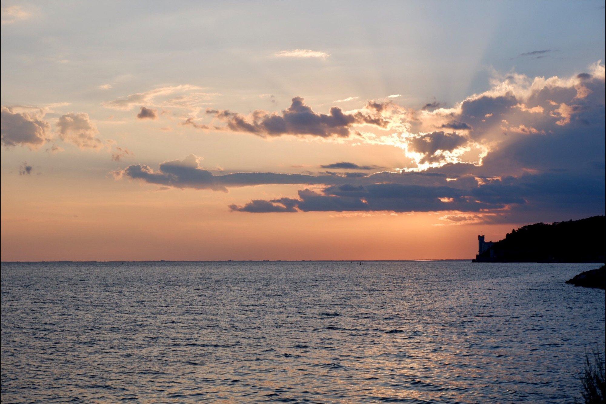 tramonto trieste miramare WEEKEND A TRIESTE