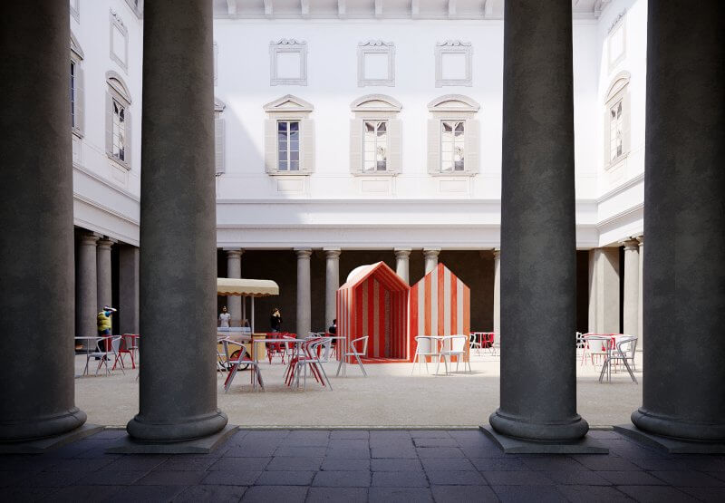Design Variations 2021 by Moscapartners Palazzo Litta A beach in the baroque by Aires Mateus FUORISALONE 2021
